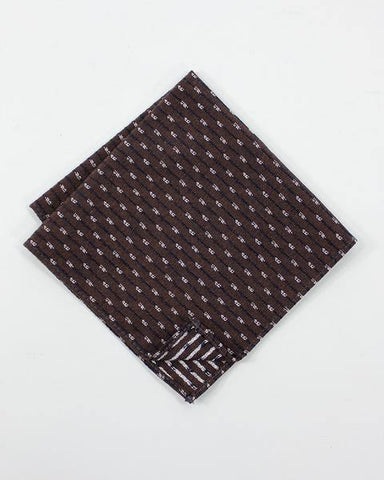 Brown Kasuri-Ori Pocket Square