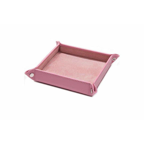 Leather Travel Tray - Pink (Personalisation) - -