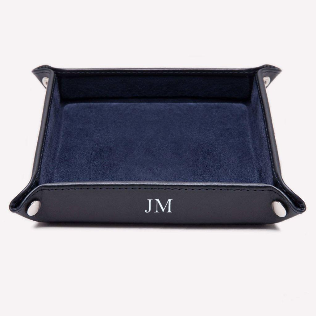 Leather Travel Tray - Red (Personalisation) - -