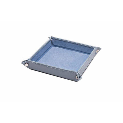 Leather Travel Tray - Sky Blue (Personalisation) - -