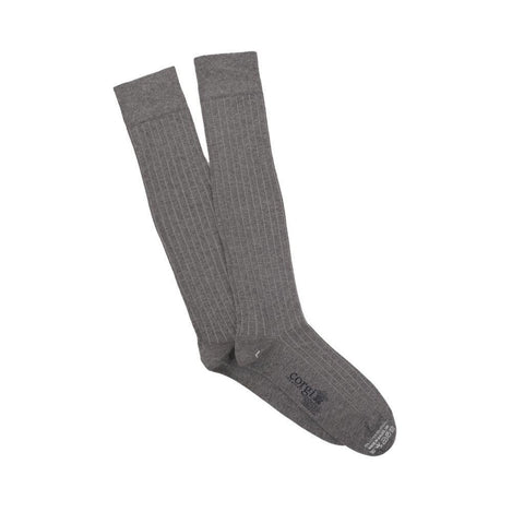 Otc Lightweight Cotton Ribbed Socks (Silver) - Small - Socks
