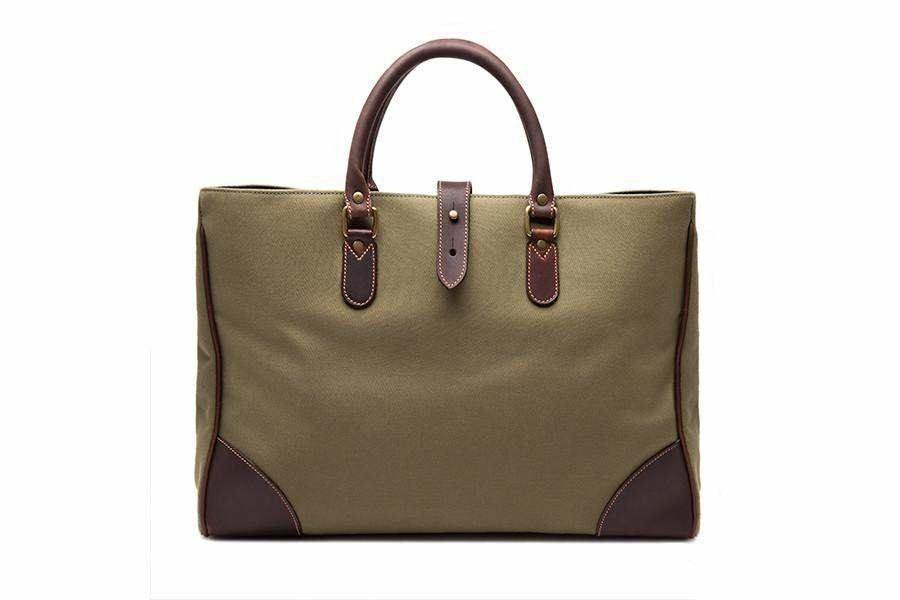 Piccadilly Canvas Tote - Olive - Bags