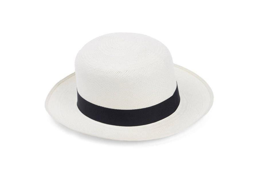 Superfine Folder Panama Hat - Navy Band - Hats