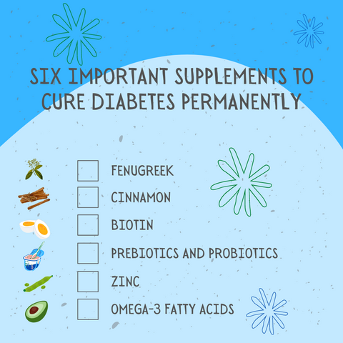 Six Important Supplements To Cure Diabetes Permanently
