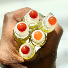 Load image into Gallery viewer, Chamomile and Cassia Scalp Elixir - 10 ml gemstone roller bottle