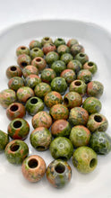 Load image into Gallery viewer, Unakite Gemstone Loc Bead