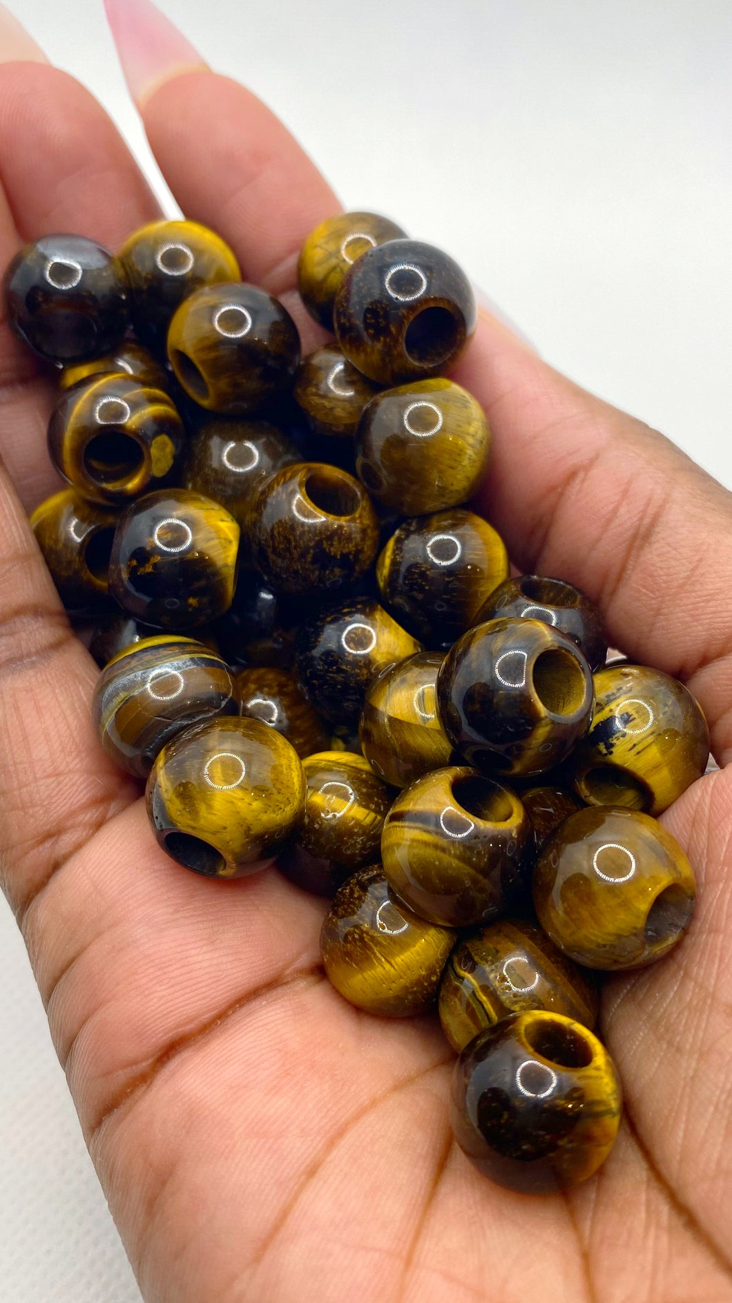 Tiger's Eye Gemstone Loc Bead