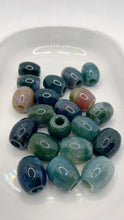 Load image into Gallery viewer, Moss Agate Gemstone Loc Bead
