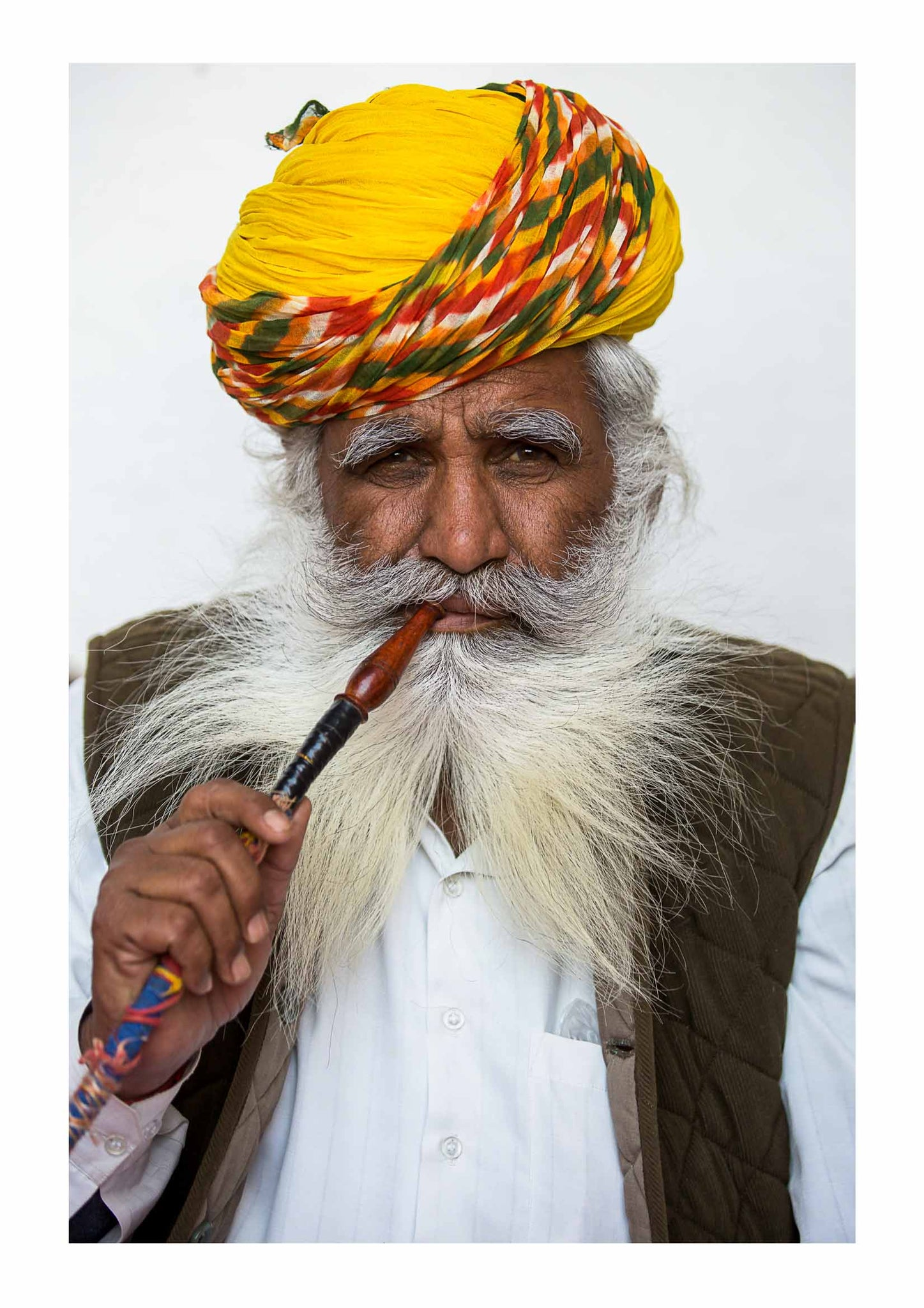 Rajasthani man with pipe
