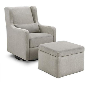 Carter's by DaVinci® Adrian Swivel Glider with Storage Ottoman - Freddie and Sebbie
