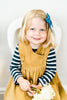 Little Cotton Clothes . Aida Pinafore Dress . Mustard