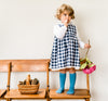 Little Cotton Clothes . Aida Pinafore Dress . Gingham
