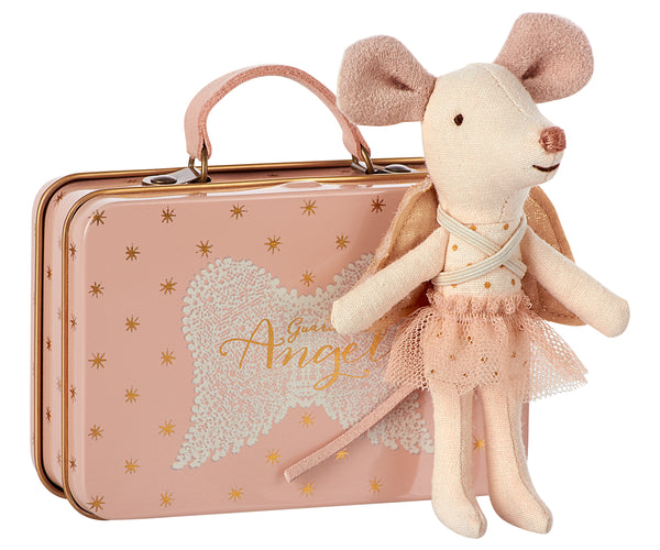 Maileg . Angel Mouse in Suitcase