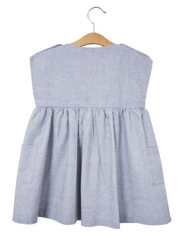 Little Cotton Clothes . Rosie Dress .  Chambray