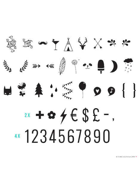 A Little Lovely Company - Lightbox Accessories Symbols & Numbers