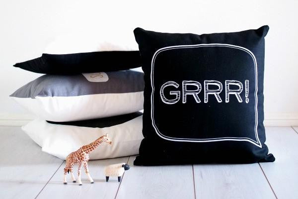 Frankie & Frenchie Cushion Cover - Grrr