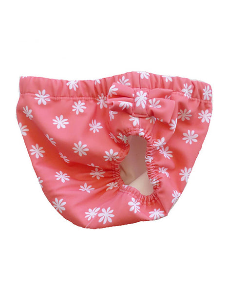 Petit Crabe Girls Toddler Swim Nappy . Blossom