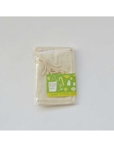 Yellow Owl Workshop - Set of Blank Cloth Gift Bags