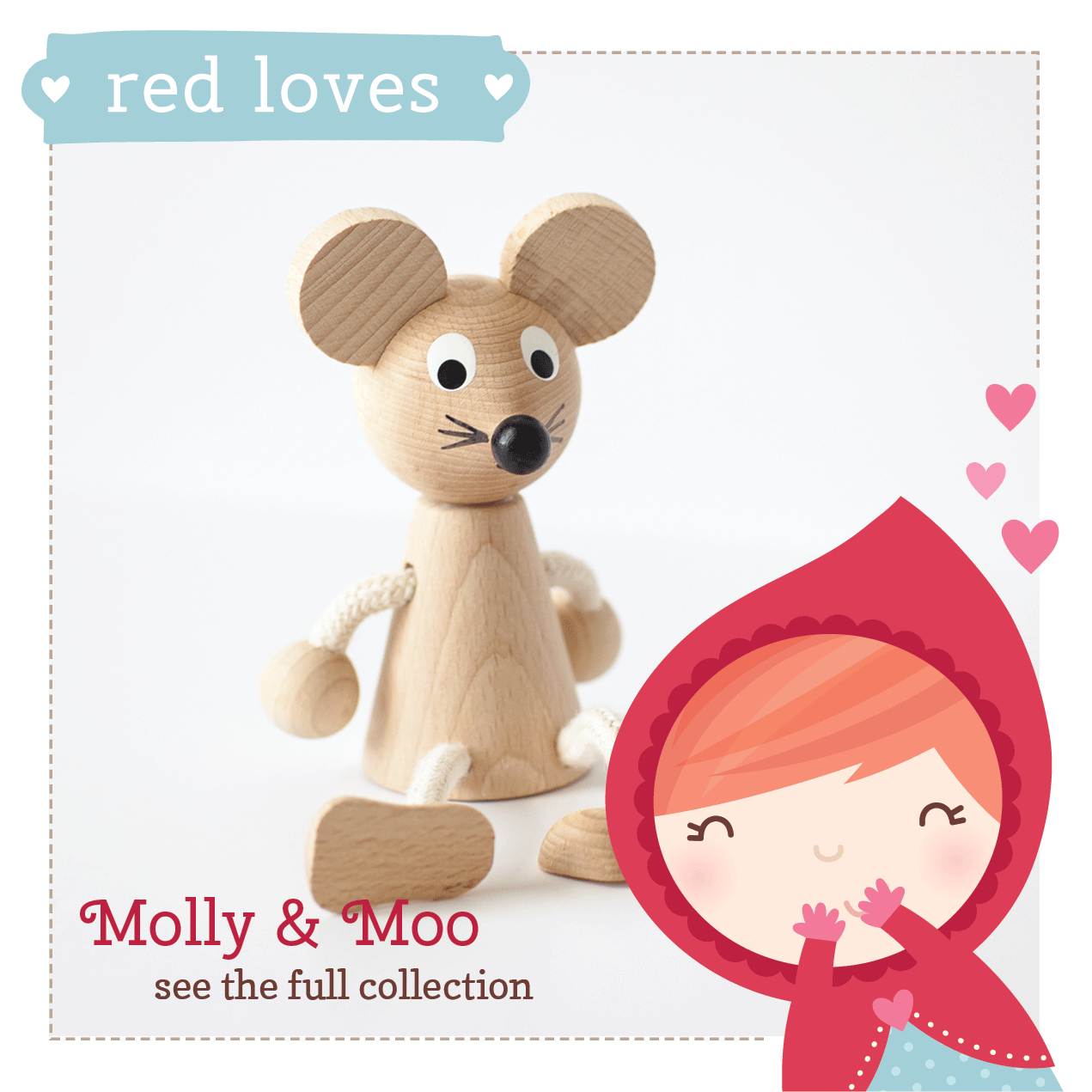 Red loves Molly & Moo