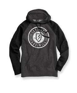 Vindicate Raglan Youth Hoodie - Charcoal and Black