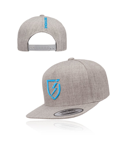 Blitz.0 Solid Snapback - Heather Gray n Blue