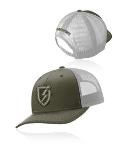 Jett Blitz.0 Snapback - Olive and Gray