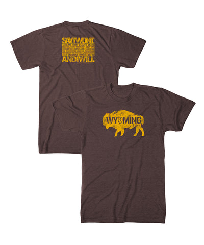 Wyoming Creed 2.0 Tee - Heather Brown