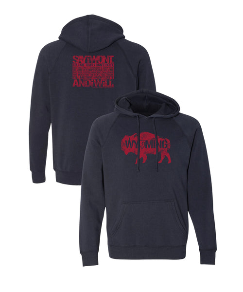 Wyoming Creed 2.0 Hoodie - Heather Navy