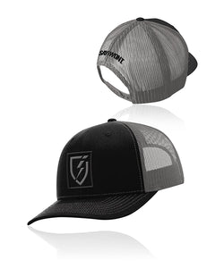 Icon Blackout Snapback - Black n Charcoal