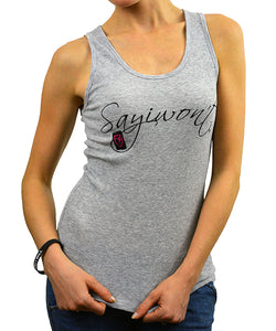 Point Barrel 2x1 Tank Top - Heather Gray
