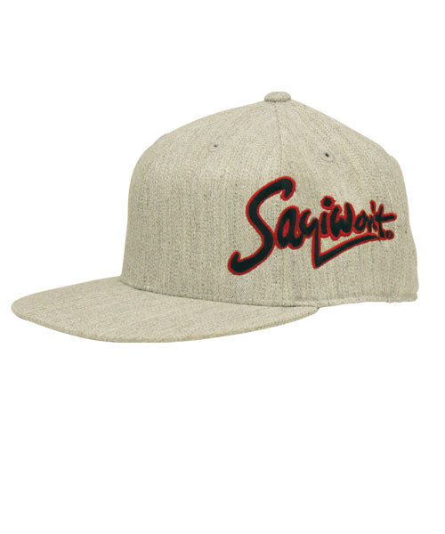 Signature Flatbill Flexfit - Heather Gray-Red