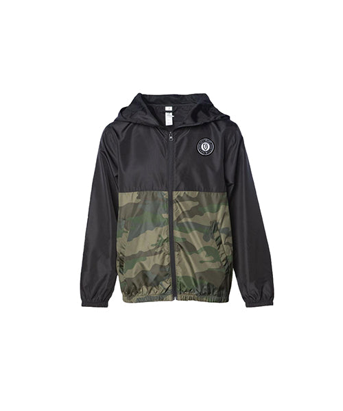 Vindicate Youth Wind Breaker - Black - Camo