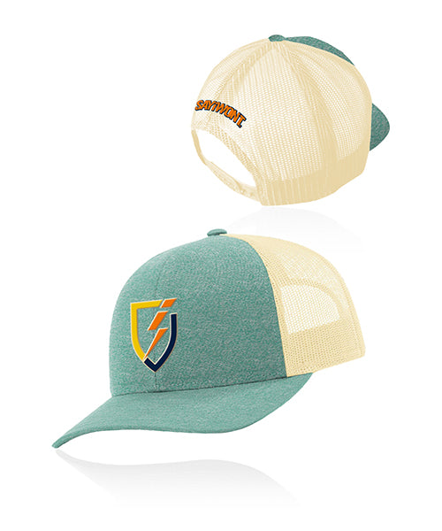 Retro Blitz.0 Snapback - Heather Teal - Bone