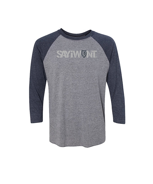 Blitz.0 Creed Raglan - Gray and Navy