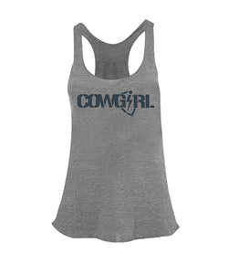 Cowgirl BLiTZ Tri-Racer Tank - Heather Gray