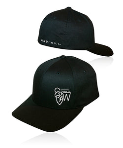 Crafted Solid Flexfit - Black w White
