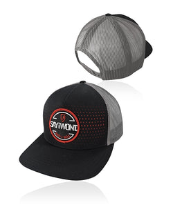 Burst Laser Detailed Snapback - Black, Gray, Red