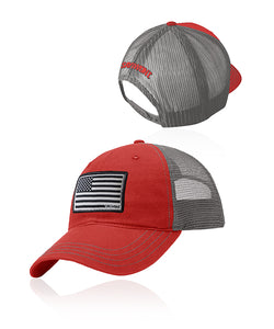 Defender Flag Patch Snap - Red n Charcoal