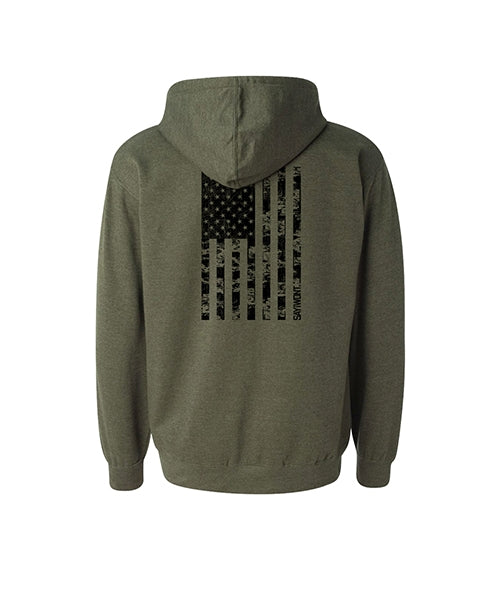 Defender Vert Hoodie - Heather Military Green