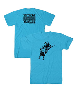 Shadow Bull Creed Tee - Turquoise