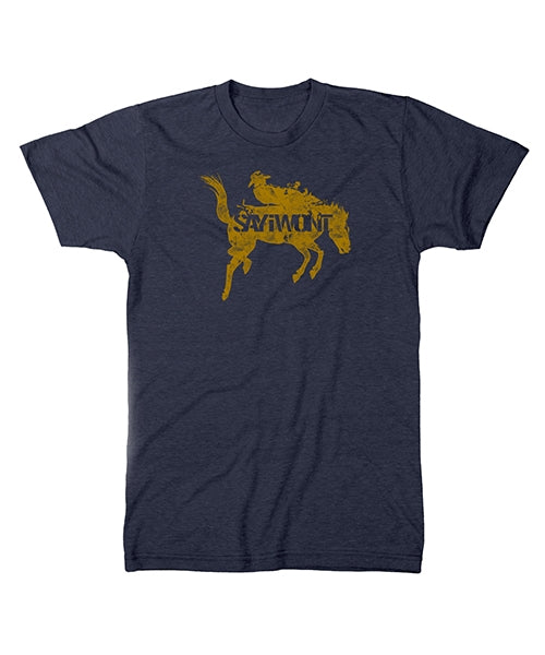 Shadow Bronc Creed Tee - Heather Navy