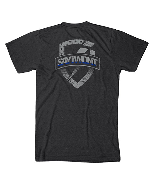 Shielded BLUE Line Tee - Black