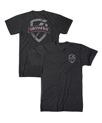 Shielded RED Line Tee - Black