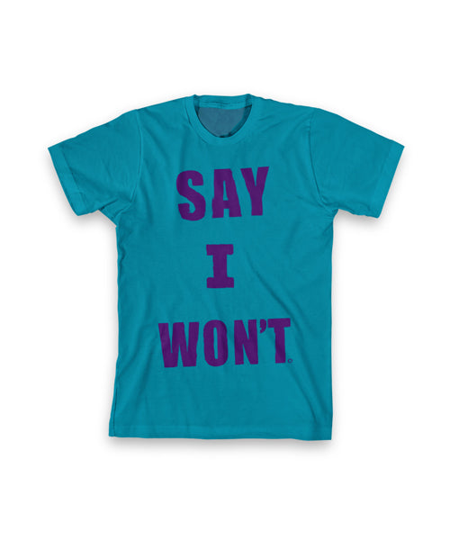 3 Words Youth Tee - Turquoise