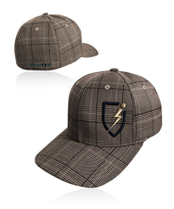 Deuce Blitz Plaid Flexfit - Brown-Navy