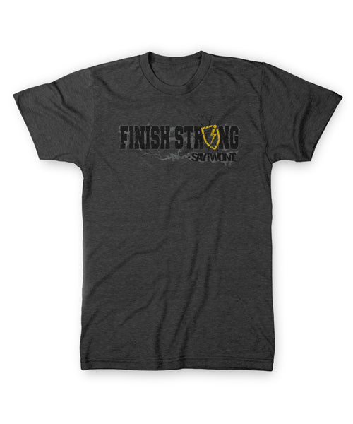 Finish Strong Tee - Charcoal