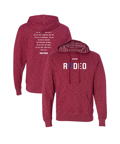 Rodeo Blitz.0 Creed Hoodie - Heather Cardinal