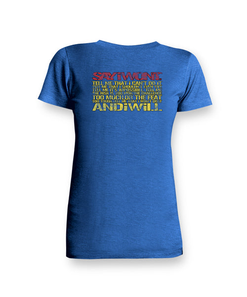 Super Creed Ladies Tee - Royal