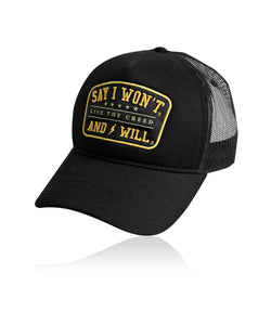 Thunder Snapback Trucker - Black - SAYiWONT YellowStone