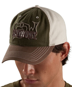 Stacked 3-D Adjustable Cap - Olive